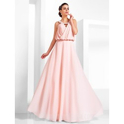 Australia Formal Dress Evening Gowns Prom Gowns Military Ball Dress Pearl Pink Plus Sizes Dresses Petite A Line Princess Scoop Long Floor Length Chiffon